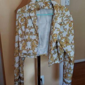Versace print pant suit